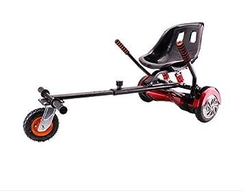 |HOVERKART Todoterreno| - Asiento Silla Kart Patinete eléctrico Rojo, Robusto, amortiguadores, Regulable y valido para Todos los tamaños de Hoverboard ...