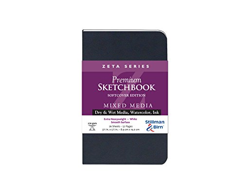 Zeta Softcover Sketchbook 8.5X5.5 Ls by Stillman /& Birn
