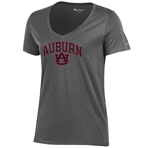 Tigers Womens Charcoal - Elite Fan Shop Auburn Tigers Womens Vneck Tshirt Charcoal - M