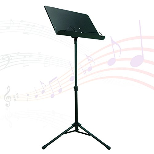 PARTYSAVING Orchestra Sheet Music Stand with Heavy Duty Black Metal Folding Design, - Material Metal Black