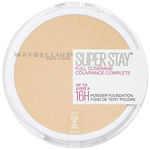 Maybelline New York Super Stay Full Coverage Powder Foundation Makeup (Primer Concealer)