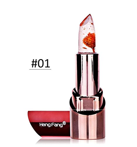 iLH® New Sale!Beauty Bright Flower Crystal Jelly Lipstick Magic Temperature Change Color Lip Party Makeup by ZYooh (A)