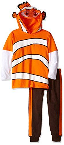 Disney Little Boys' Toddler Nemo 2-Piece Costume Hoodie and Pant Set, Orange, (Nemo Costume 2t)