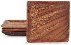 Sur La Table Acacia Wood Plates MST903-066  Set of 4  sc 1 st  Amazon.com & Amazon.com: Wood - Dinner Plates / Plates: Home \u0026 Kitchen