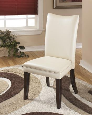 Ashley Furniture Signature Design Charrell Dining UPH Side Chair, Ivory, Set of - Chair High Dining Side