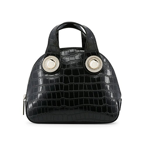 Women Jeans Black Genuine Handbag Rrp Designer Versace 5dUv4x5