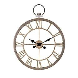 30 Vintage Design Payton Roman Numeral Round Wall Clock