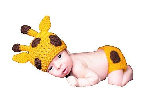 Newborn Baby Crochet Costume Photography Prop Outfit Giraffe