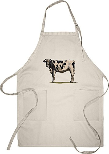Lantern Press Holstein Cow - Icon (Cotton/Polyester Chef'...