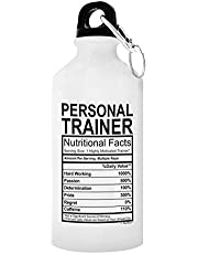 ThisWear Personal Trainer Graduation Gifts Personal Trainer Nutritional Facts Gift Aluminum Water Bottle with Cap & Sport Top