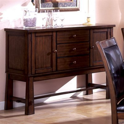 Living Stone Mission Style Tobacco Oak Finish Buffet Server Cabinet - Mission Sideboard
