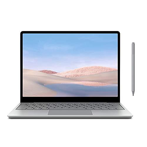 "Microsoft Surface Laptop Go 12.4"" Touchscreen Laptop PC, Intel Quad-Core i5-1035G1, 4GB RAM, 64GB eMMC, Webcam, Win 10, Bluetooth, Online Class Ready, w/Surface Pen - Platinum"