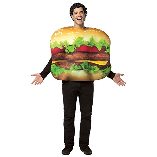 Real Halloween Housewife Costumes (Get Real Cheeseburger Costume - One Size - Chest Size)