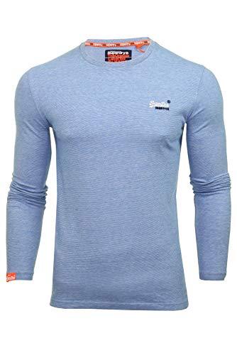 T Avec shirt Bleu Vintage Orange Manches Broderie À Superdry Homme Longues 5qBw0Pxf