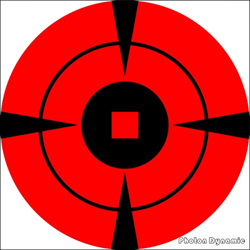 Target Stickers 400 Mega-Pack 4-Inch Bullseye PhotonDynamic Target Stickers - Neon Self Adhesive Targets for Shooting - Gun and Rifle Targets.