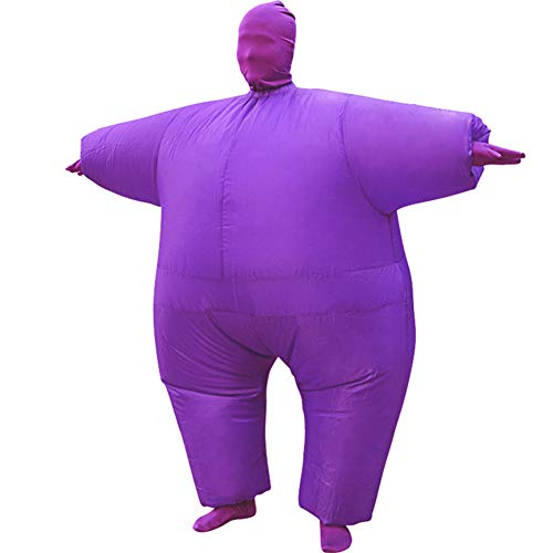 HUAYUARTS Inflatable Full Body Suit Costume Adult Funny Cosplay Cloth Party Toy Gift for Halloween Christmas, Free Size, Purple