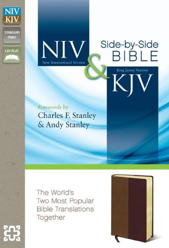 NIV, KJV, Side-by-Side Bible, Leathersoft, Tan/Burgundy: God's Unchanging Word Across the Centuries