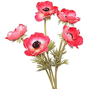 En Ge Rose Anemone Flowers with Long Stems Artificial Flower for Home Decor DIY Wedding Bouquet 93