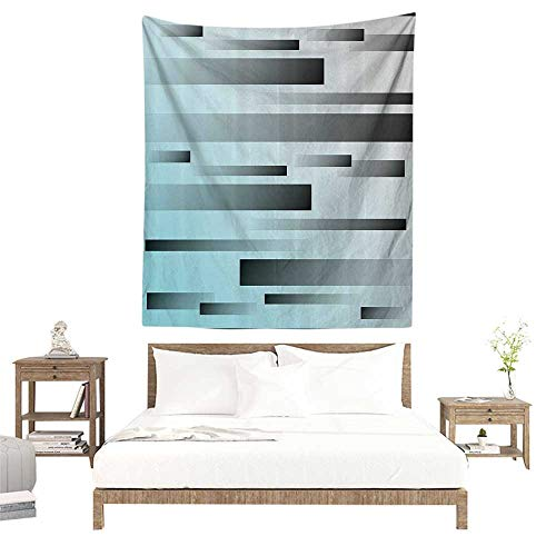 (alisoso Wall Tapestries Hippie,Striped Decor,Abstract Symbolism Lines Featured Modern Multi Faceted Lines Sci Fi Art,Sky Blue Grey W57 x L74 inch Tapestry Wallpaper Home)