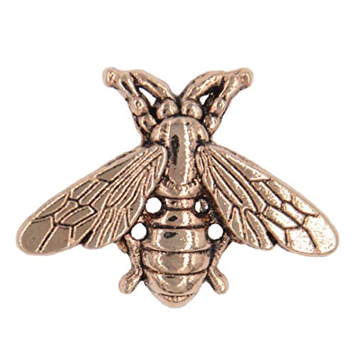 Antique Style Metal Honey Bee Brooch Insect Male Suit Accessory Alloy Animal Woman Lapel Pin Fashion Jewelry Antique Silver - Lapel Lion Pins Sterling Silver