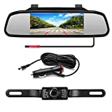 Podofo Backup Camera with 4.3' LCD Mirror Monitor for Pickup Truck Camper Night Vision Parking Reverse Assistance System