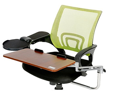 Best to Buy Chair Mount Ergonomic Keyboard/Laptop Tray System Plus Chair Mount Armrest/Mouse Tray Walnut (Chair is not including)