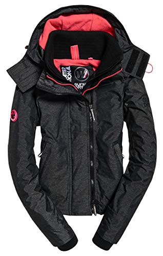 Hooded Pink Xe6 Donna Windchea black Arctic Marl Pop Zip Giacca Superdry Sportiva Nero Linear hot Hxgaq65