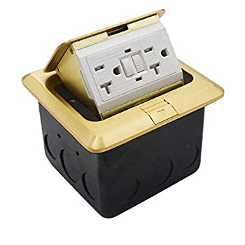 Petsply Pop Up Brass Floor Electrical Outlet Countertop