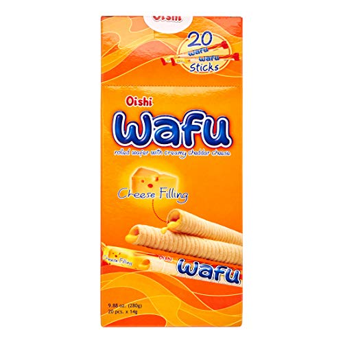Oishi Wafu Cheese Filling Wafer Sticks 9.88oz (280g), 1 Pack