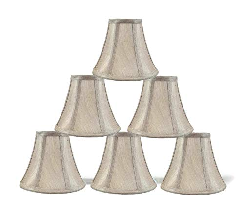 """Urbanest 3x6x5"""" Chandelier Lamp Shade, Champagne, Set of 6"""