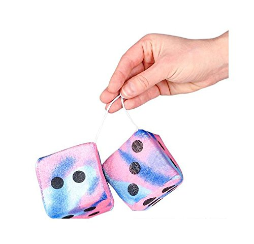3'' Tie Dye Fuzzy Dice Plush by Bargain World (Image #5)