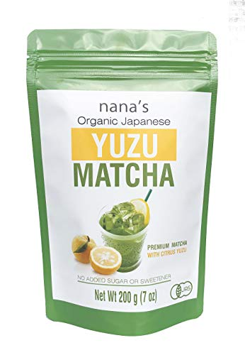 Nana's Yuzu Matcha, Premium Matcha Tea with Refreshing Citron Yuzu, Organic, First Harvest, Product of Japan 7 oz, Perfect for Hot or Iced Lattes, Smoothies and Protein Shakes