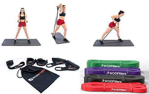WODFitters Portable Home Gym with Resistance Bands – Full Body Workouts for Home, Travel – Equipment to Workout Any Time, Any Place