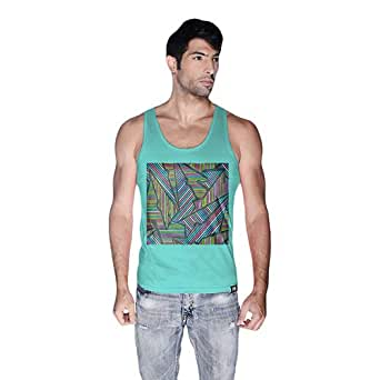 Creo Abstract 02 Retro Tank Top For Men - Xl, Green