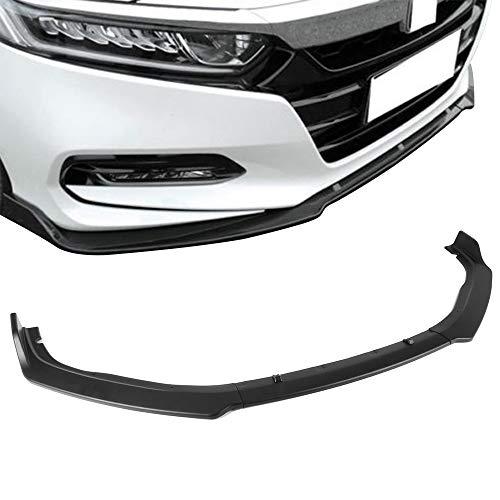 Free-motor802 Front Bumper Lip Fits 2018 Honda Accord OE Style Unpainted Black PP 3PC Spoiler Splitters