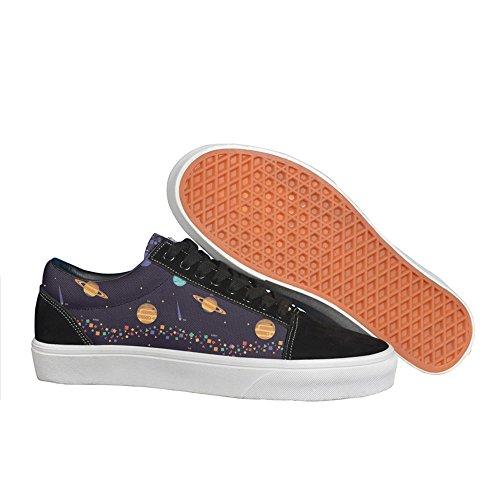 solar system planet Fashion Skateboarding Shoes Original women's canvas sneakers