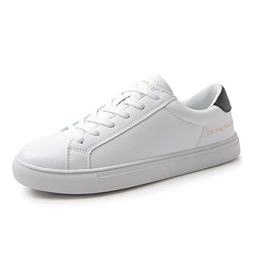 Black Chaussures Mode Blanches Lace Chaussures Skate Sport de Plates de Up Femmes décontractées de Respirantes Chaussures xwPq0Z4Wg