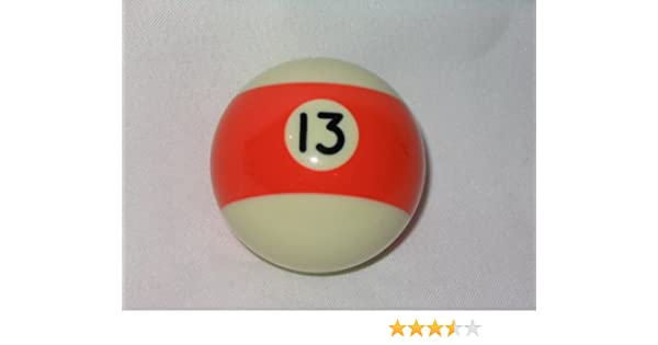 American Shifter 96057 Orange Stripe 13 Ball Billiard Pool Shift Knob