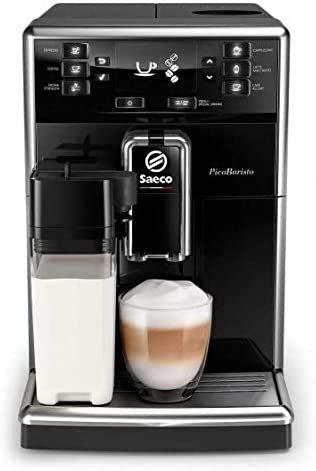 Philips Saeco PicoBaristo SM5460/10 - Cafetera Súper Automática, 11 Bebidas de Café Personalizables, Jarra de Leche Integrada, Limpieza Automática, Molinillo Ceramico: Amazon.es: Hogar