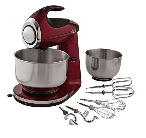 Sunbeam FPSBSM21MR-BND Heritage Series 12-Speed 350-watt Stand Mixer Bundle with Bowl, 2.2-Quart and 4.6-Quart, Red (Beaters Sunbeam Mixmaster)