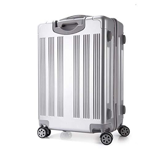 ハイエンドPCの描画ロッド荷物スーツケースユニバーサルホイールスーツケース20インチ22インチ24インチ26インチ (Color : シルバー, Size : M) M シルバー B07QHYJK77