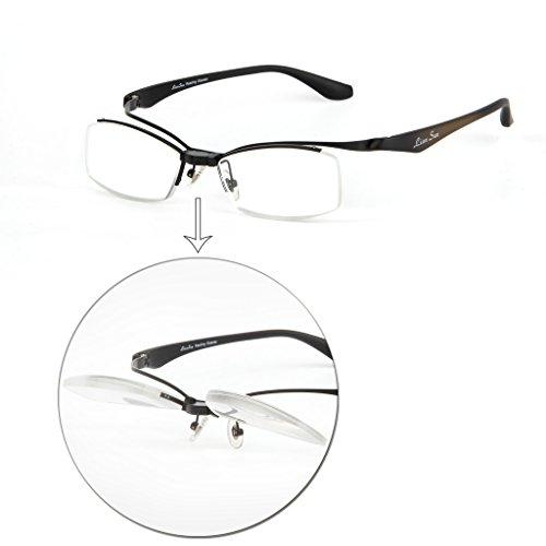 LIANSAN Portable Mens Reading Glasses Movable Women Readers with Case 1.5 2.0 1.0 2.5 3.0 3.5 4.0 L3802 Black - Men Sunglasses Cartier