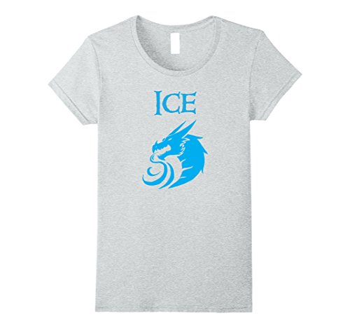 Womens Halloween Costume T-Shirts - Fire and Ice Dragons Medium Heather (Fire And Ice Couples Costume)