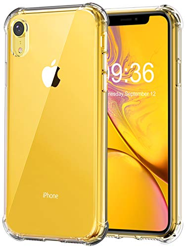 - Matone for iPhone XR Case, Crystal Clear Slim Protective Cover with Reinforced Corner Bumpers, Flexible Soft TPU Anti-Scratch Case for Apple iPhone XR (2018) 6.1-Inch