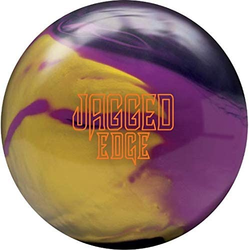 Brunswick Jagged Edge ハイブリッドボウリングボール - バイオレット/グレープ/ゴールド 15ポンド