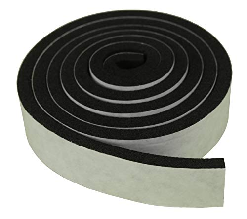 XCEL - Weather Stripping Foam Rubber Tape with Adhesive, Size 13 Feet x 1 Inch x 1/4 Inch