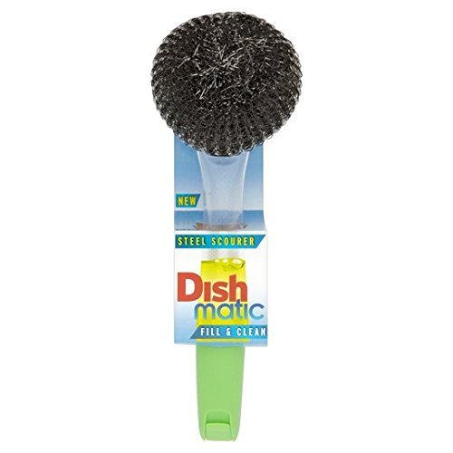 Dishmatic Filable Washing Up Brush With Steel Scourer by Dishmatic