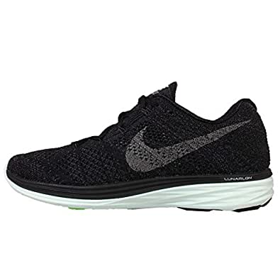 Nike Womens Flyknit Lunar3 Lb Running Trainers 826838 Sneakers Shoes (UK 3.5 US 6 EU 36.5, Black Metallic Pewter Anthracite Volt 003)
