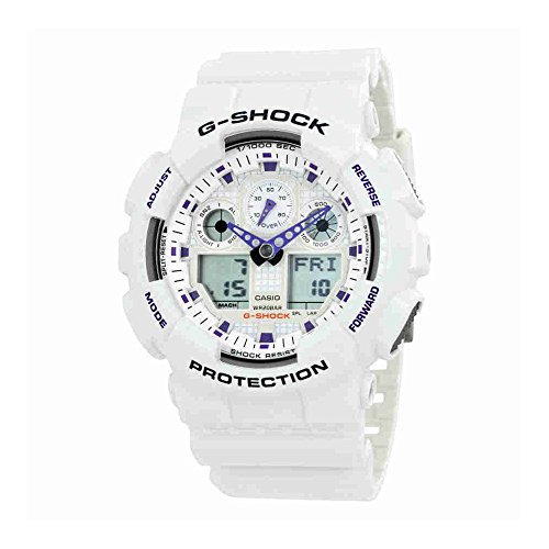 G-Shock GA100A-7A X-Large Men's White Resin Sport (Miami Sport Watch)