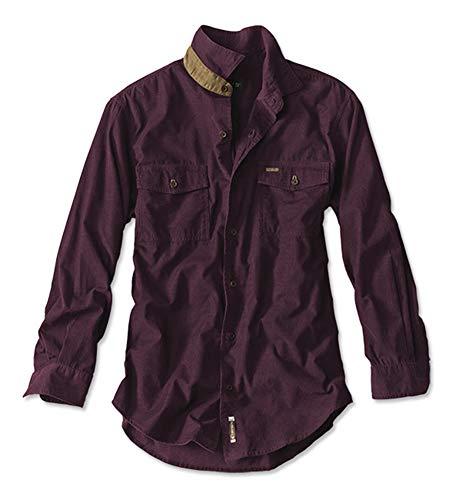 Orvis Men's Fairbanks Fine Corduroy Shirt, Claret, Large